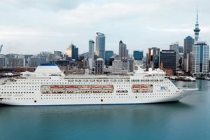 P&O's Pacific Pearl arrives with Auckland Nines fans