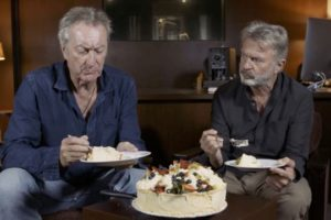 Air NZ behind the scenes: Sam Neill and Bryan Brown on 'fush and chups', birdsong and pavs
