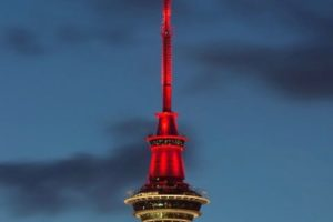 Sky Tower joins landmarks lighting for Chinese New Year