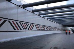 120m-long Maungatapu mural unveiled
