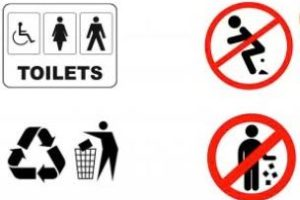 Sign of the times: Visitors, no public pooing please