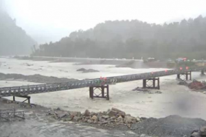 Rain delays reopening of Westland's Waiho Bailey bridge