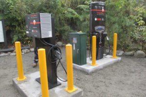 NTT installs EV chargers at Franz Josef
