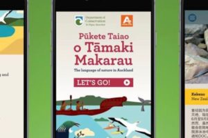 DOC claims world first tri-lingual nature app launch