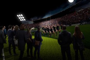 Work on All Blacks Experience kicks off, new images released