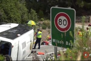 Police charge driver in Queenstown tour bus crash