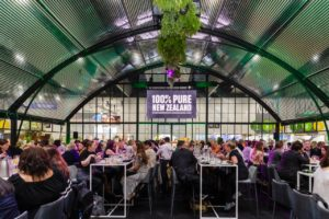 Tourism NZ in trees-for-guests initiative at AIME