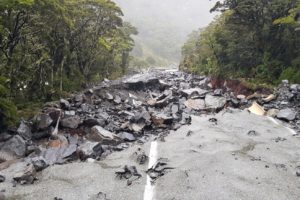 Milford Road repairs under way
