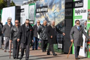 Stadium opens interactive wall to mark 100-year history