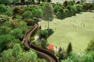 Treetop walk, cycle paths proposed for gardens
