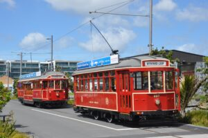 Dockline trams return to Auckland waterfront