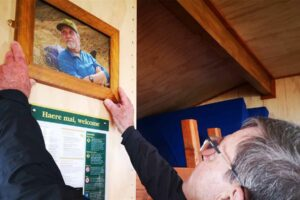 Conservationist honoured by DOC with new hut