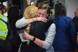 Gallery: Emotions soar as trans-Tasman flights land