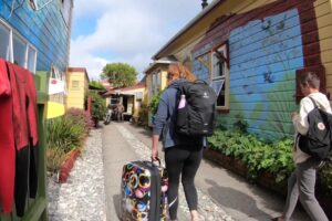 Residents evacuated in backpackers blaze
